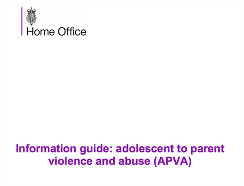 Information guide: adolescent to parent violence and abuse (APVA)