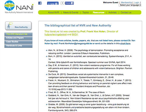 The bibliographical list of NVR and New Authority
